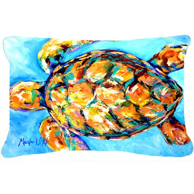 Bayberry Coastal Turtle Indoor/Outdoor Throw Pillow