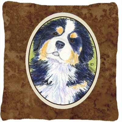 Modern Dog Brown Indoor/Outdoor Throw Pillow
