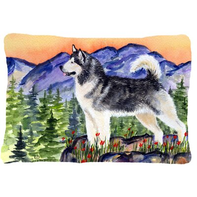 Alaskan Malamute Rectangular Indoor/Outdoor Throw Pillow