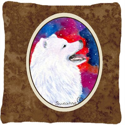 Samoyed Modern Indoor/Outdoor Throw Pillow