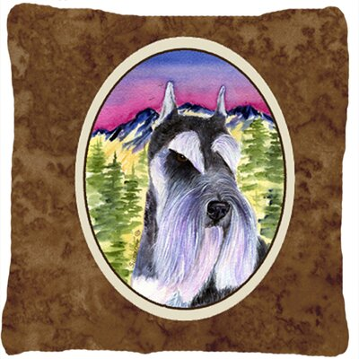 Schnauzer Graphic Print Indoor/Outdoor Throw Pillow