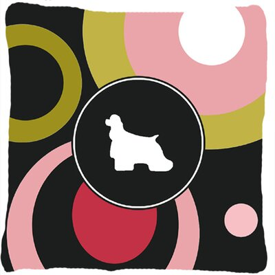 Cocker Spaniel Polka Dots Indoor/Outdoor Throw Pillow