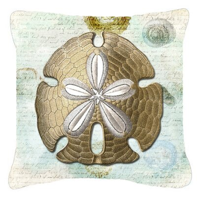 Barton Beige/Gold Indoor/Outdoor Throw Pillow Size: 14 H x 14 W x 4 D