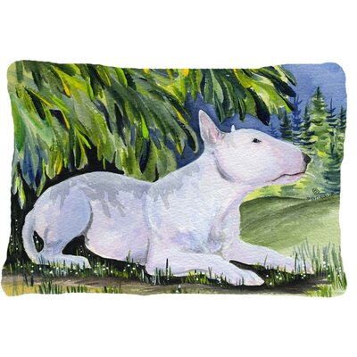 Bull Terrier Indoor/Outdoor Rectangular Throw Pillow
