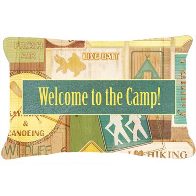 Welcome To The Camp Indoor/Outdoor Throw Pillow