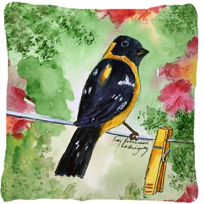 Black Headed Grosbeak Indoor/Outdoor Throw Pillow