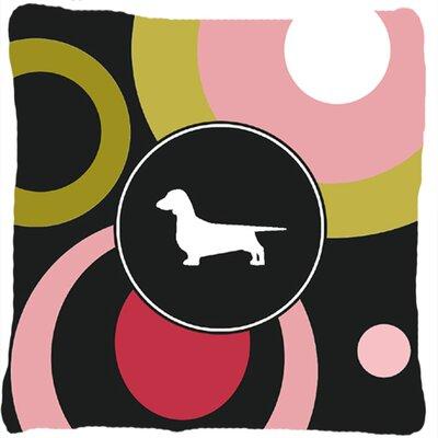 Dachshund Polka Dots Indoor/Outdoor Throw Pillow