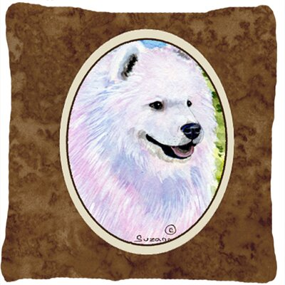 Samoyed Square Brown Indoor/Outdoor Throw Pillow
