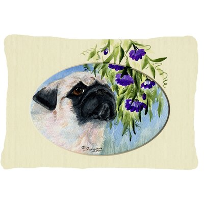 Pug Indoor/Outdoor Throw Pillow