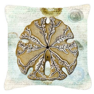 Sand Dollar Indoor/Outdoor Throw Pillow Size: 14 H x 14 W x 4 D