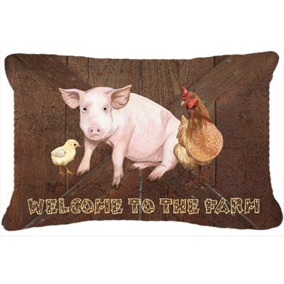 Welcome To The Farm Indoor/Outdoor Throw Pillow