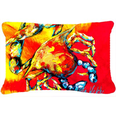 Crab Hot Dang Indoor/Outdoor Throw Pillow
