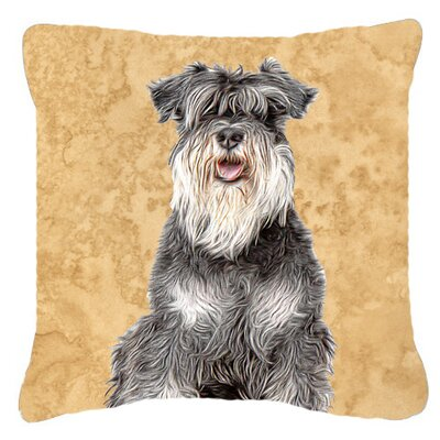 Schnauzer Square Indoor/Outdoor Throw Pillow Size: 18 H x 18 W x 5.5 D