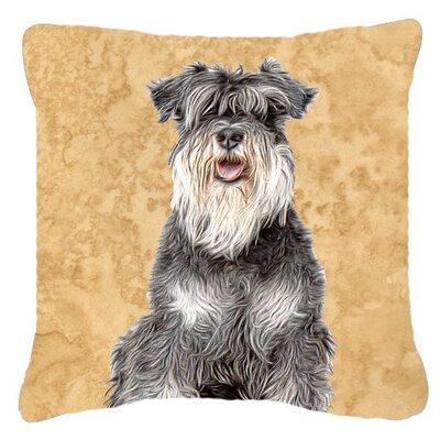 Schnauzer Indoor/Outdoor Throw Pillow Size: 18 H x 18 W x 5.5 D