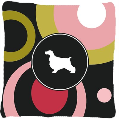 Cocker Spaniel Polka Dots Square Indoor/Outdoor Throw Pillow