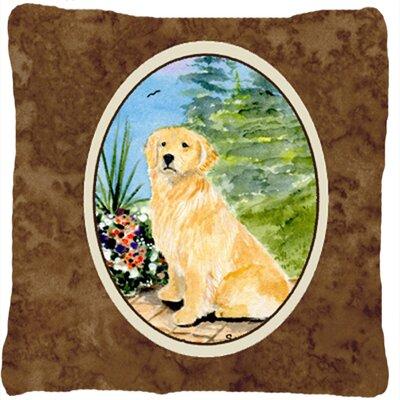 Golden Retriever Indoor/Outdoor Throw Pillow