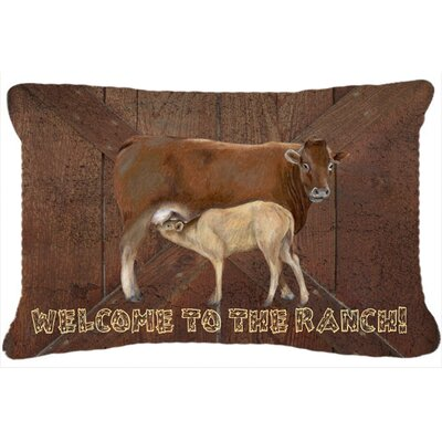 Welcome To The Ranch Indoor/Outdoor Throw Pillow