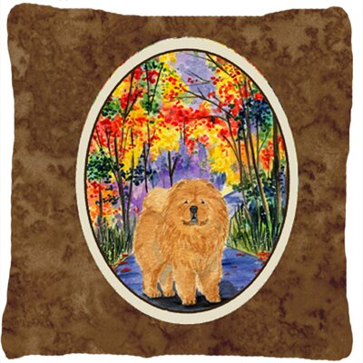 Chow Chow Square Brown Indoor/Outdoor Throw Pillow