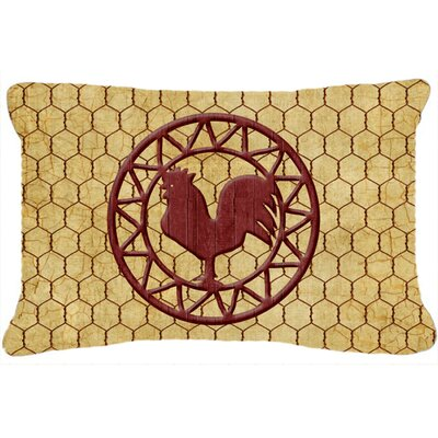 Jaiden Rooster Chicken Coop Indoor/Outdoor Throw Pillow