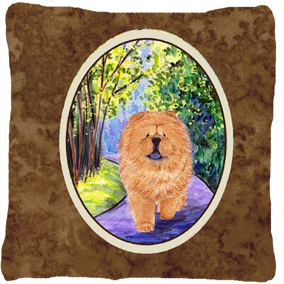 Chow Chow Graphic Print Square Indoor/Outdoor Throw Pillow