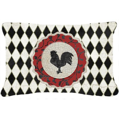 Jaiden Rooster Harlequin Indoor/Outdoor Throw Pillow