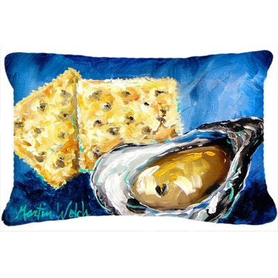 Oysters Two Crackers Indoor/Outdoor Throw Pillow