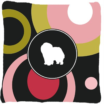 Chow Chow Polka Dots Indoor/Outdoor Throw Pillow