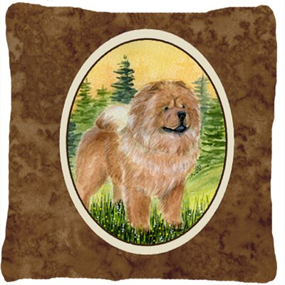 Standing Chow Chow Indoor/Outdoor Throw Pillow