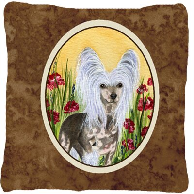 Chinese Crested Square Indoor/Outdoor Throw Pillow