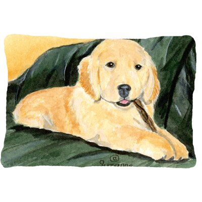Golden Retriever Indoor/Outdoor Lumbar Pillow