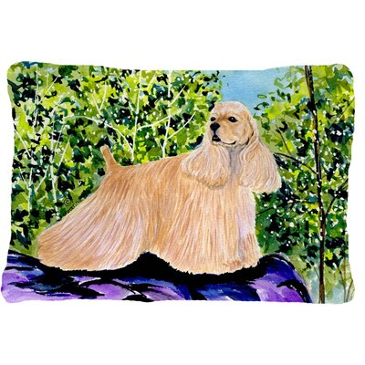 Cocker Spaniel Indoor/Outdoor Rectangular Throw Pillow