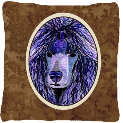Poodle Brown Indoor/Outdoor Throw Pillow