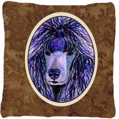 Poodle Brown Indoor/Outdoor Throw Pillow