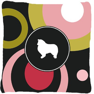Collie Polka Dots Indoor/Outdoor Throw Pillow