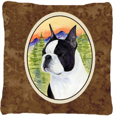 Boston Terrier Square Indoor/Outdoor Throw Pillow