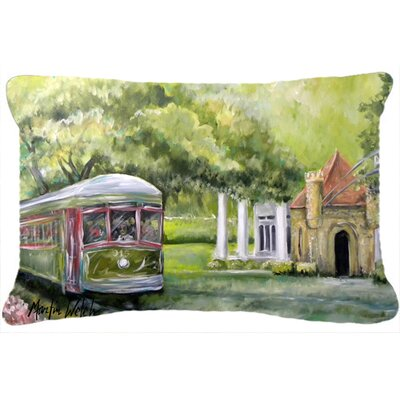Streetcar Next Stop Audubon Park Indoor/Outdoor Throw Pillow