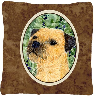 Border Terrier Square Indoor/Outdoor Throw Pillow