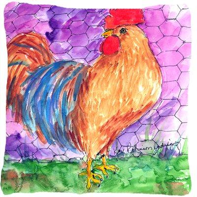 Rooster Indoor/Outdoor Throw Pillow