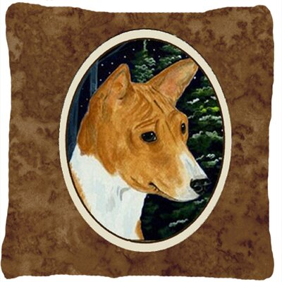 Basenji Square Brown Indoor/Outdoor Throw Pillow