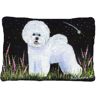 Bichon Frise Indoor/Outdoor Black/White Throw Pillow