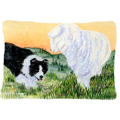 Border Collie and Sheep Indoor/Outdoor Throw Pillow
