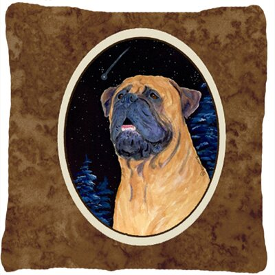 Bullmastiff Head Indoor/Outdoor Throw Pillow