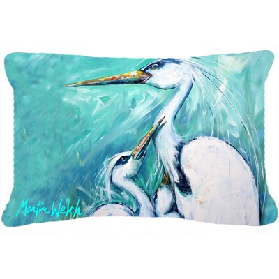 Mothers Love White Crane Indoor/Outdoor Throw Pillow