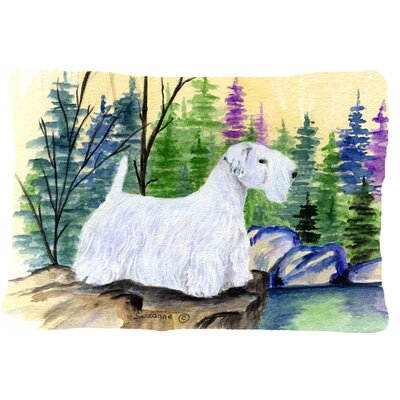 Rectangular Sealyham Terrier Indoor/Outdoor Throw Pillow