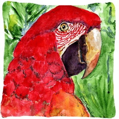 Macaw Indoor/Outdoor Throw Pillow