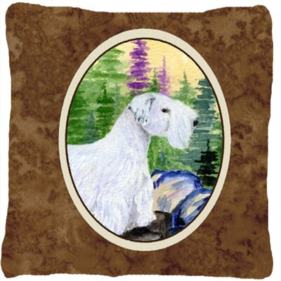 Square Sealyham Terrier Indoor/Outdoor Throw Pillow