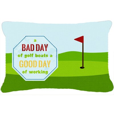 A Bad Day at Golf Indoor/Outdoor Throw Pillow