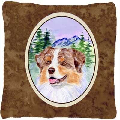 Australian Shepherd Indoor/Outdoor Graphic Print Square Throw Pillow