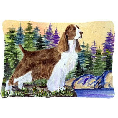 Rectangular Springer Spaniel Indoor/Outdoor Throw Pillow