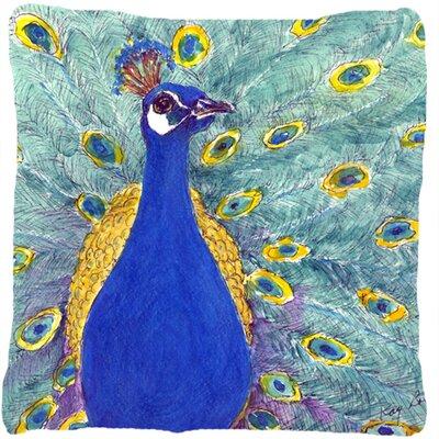 Peacock Indoor/Outdoor Throw Pillow Size: 18 H x 18 W x 5.5 D